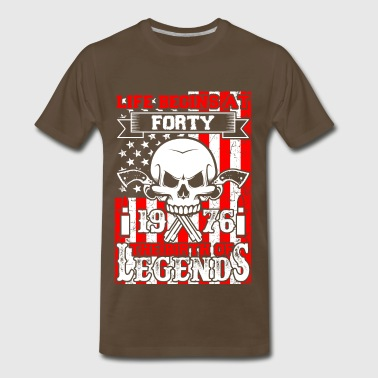 Life Begins At Forty 1976 The Birth Of Legends - Men's Premium T-Shirt