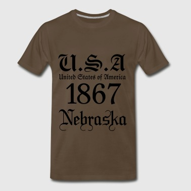 Nebraska,United States of America, US - Men's Premium T-Shirt