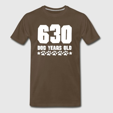 630 Dog Years Old Funny 90th Birthday - Men's Premium T-Shirt