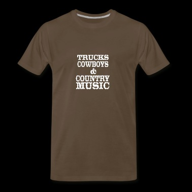 Trucks Cowboys Country Music - Men's Premium T-Shirt