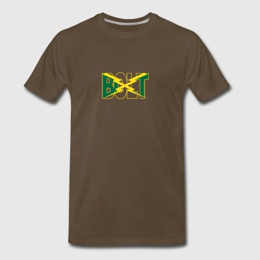 Usain Bolt Man Sprinter Dash Jamaica - Men's Premium T-Shirt