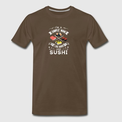 I'm a Simple man I like Boobs and Sushi - Men's Premium T-Shirt