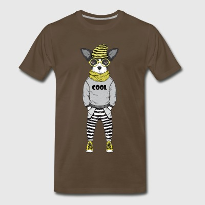 cool dog - Men's Premium T-Shirt