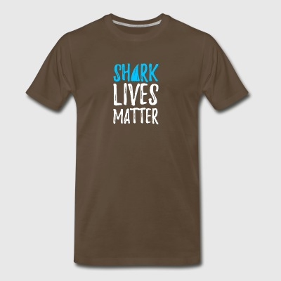 shark lives matter - Men's Premium T-Shirt