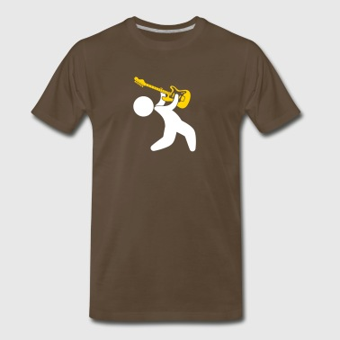 Music Star Playing The Guitar - Men's Premium T-Shirt