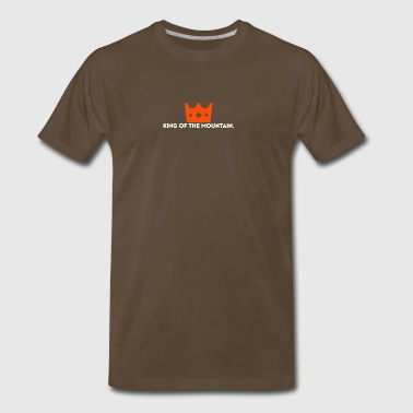 King of the Mountain. KOM. Cyclist - Men's Premium T-Shirt