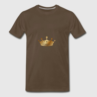 golden crown the king of rap drawing graphic arts - Men's Premium T-Shirt
