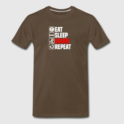 Eat Sleep Snowboard - Men's Premium T-Shirt