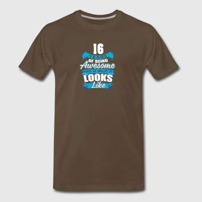 16 Years Of Being Awesome Looks Like - Men's Premium T-Shirt