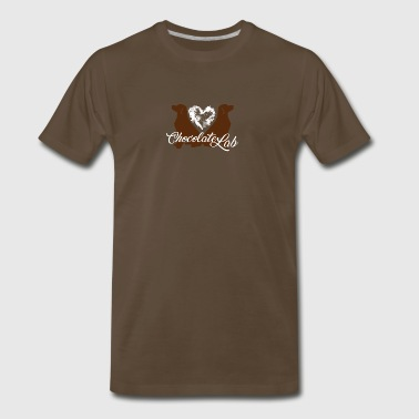 Love Chocolate Lab Dog Shirt - Men's Premium T-Shirt