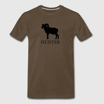 Bighorn Sheep Hunter - Men's Premium T-Shirt