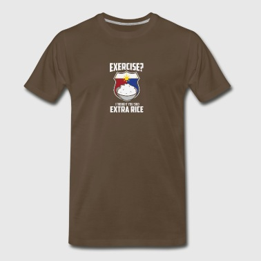 Exercise I Thought You Said Extra Rice Philippines - Men's Premium T-Shirt