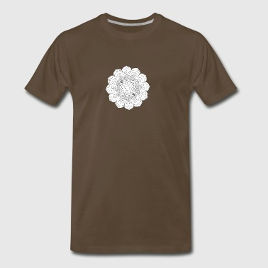 Mandala Ornament. Round Element For Coloring Book - Men's Premium T-Shirt