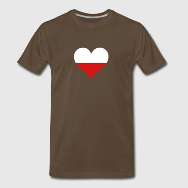 A Heart For Poland - Men's Premium T-Shirt