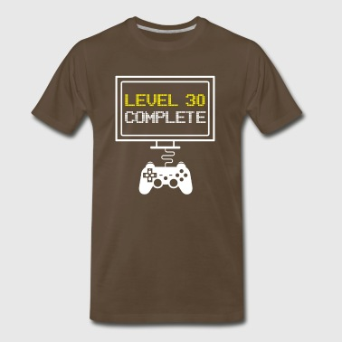 LEVEL 30 COMPLETE - funny 30th Bithday Gaming Gift - Men's Premium T-Shirt