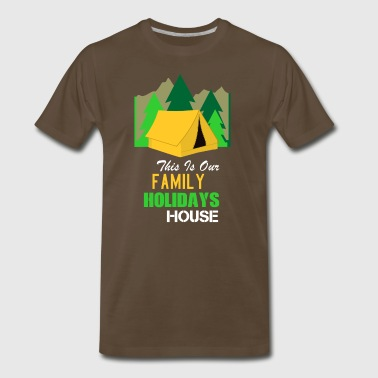 Easter Holidays Family Camping Tent Design - Men's Premium T-Shirt