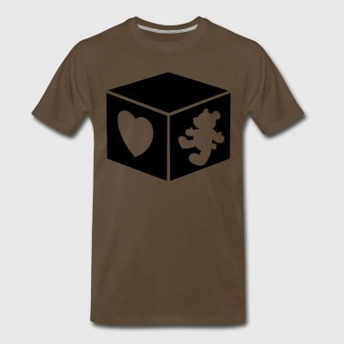 teddy bear 3d box - Men's Premium T-Shirt