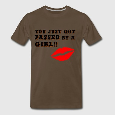 PASSED BY GIRL - Men's Premium T-Shirt