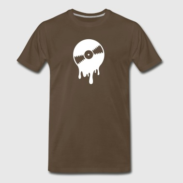 Melting Vinyl Record - Men's Premium T-Shirt