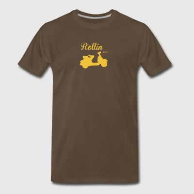 RETRO KULT VESPA 50 SCOOTER ROLLER - Men's Premium T-Shirt