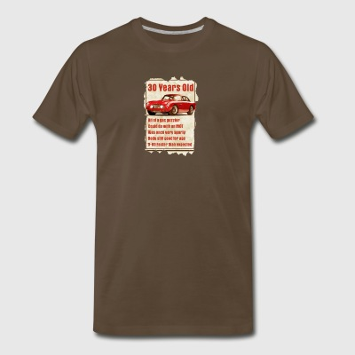 30 Year Old Aston Martin Funny Quote - Men's Premium T-Shirt