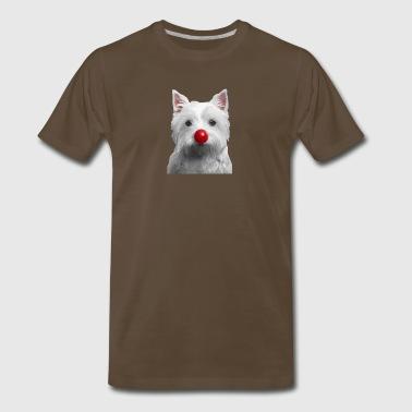 Red Nose Day Westie - Men's Premium T-Shirt