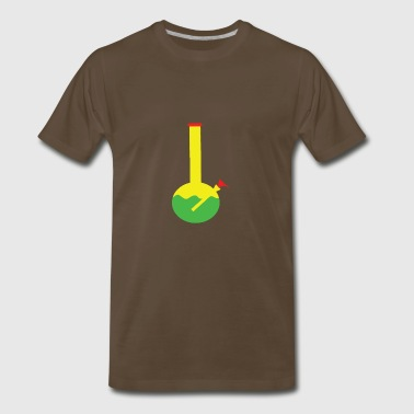 RASTA BONG WATER PIPE SLIDE INSERT STEM FILTERED - Men's Premium T-Shirt