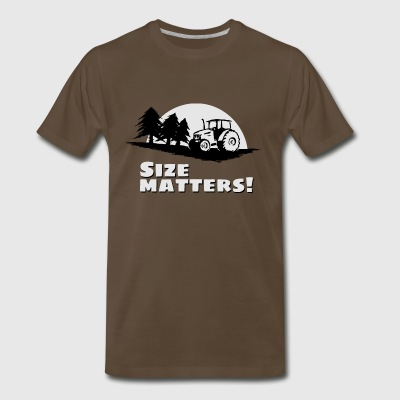 tractor size matters farmer forestry funny gift - Men's Premium T-Shirt