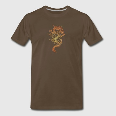 dragon_in_fire_gold - Men's Premium T-Shirt