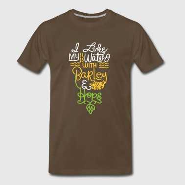 funny beer - barley and hops - Men's Premium T-Shirt