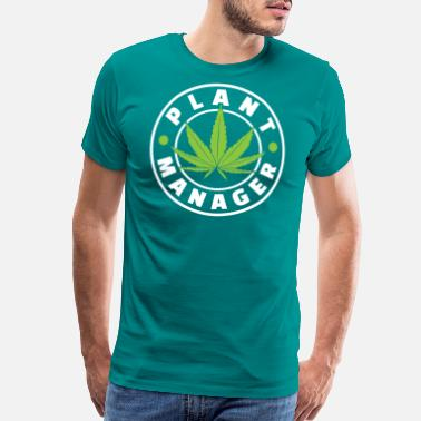 Rasta Plant Manager Marijuana For Chiller Of Weed And - Men's Premium T-Shirt