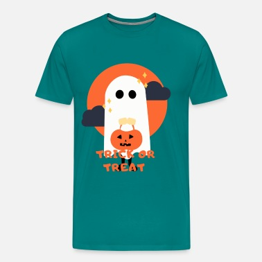 Trick Or Treat Ghost - Men's Premium T-Shirt