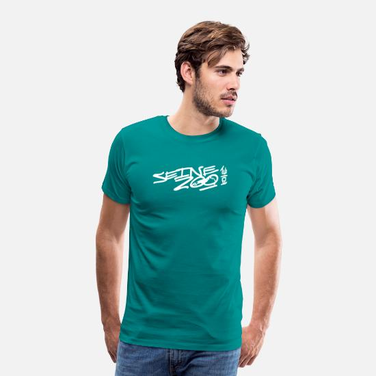Record T-Shirts - Seine Zoo Records - Men's Premium T-Shirt teal