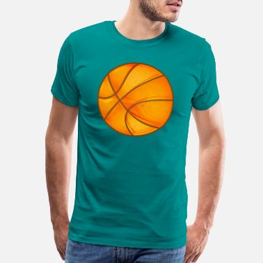 Accent Basketball in bright shiny glowing orange. - Men's Premium T-Shirt