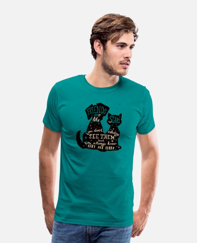 Quote T-Shirts - Friends | Kit Lover | G Fashion - Men's Premium T-Shirt teal