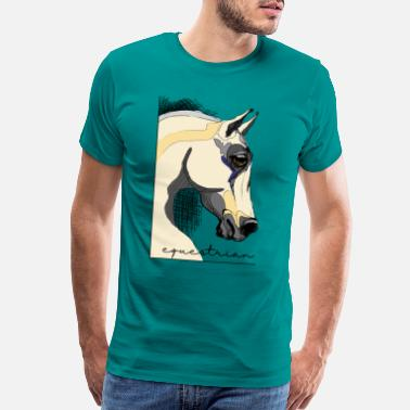 Headbanging equestrian horse - Men's Premium T-Shirt