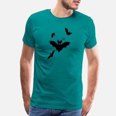 Men/'s Halloween Bats T shirt Tops Halloween Shirts Evil Black Vintage Bats