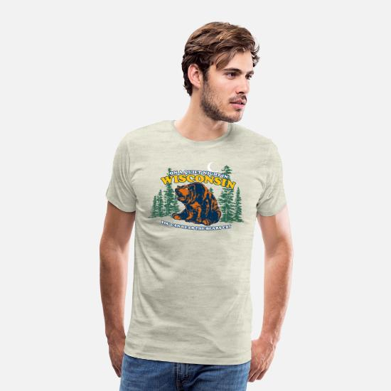 Night T-Shirts - HEAR THE BEARS CRY - Men's Premium T-Shirt heather oatmeal