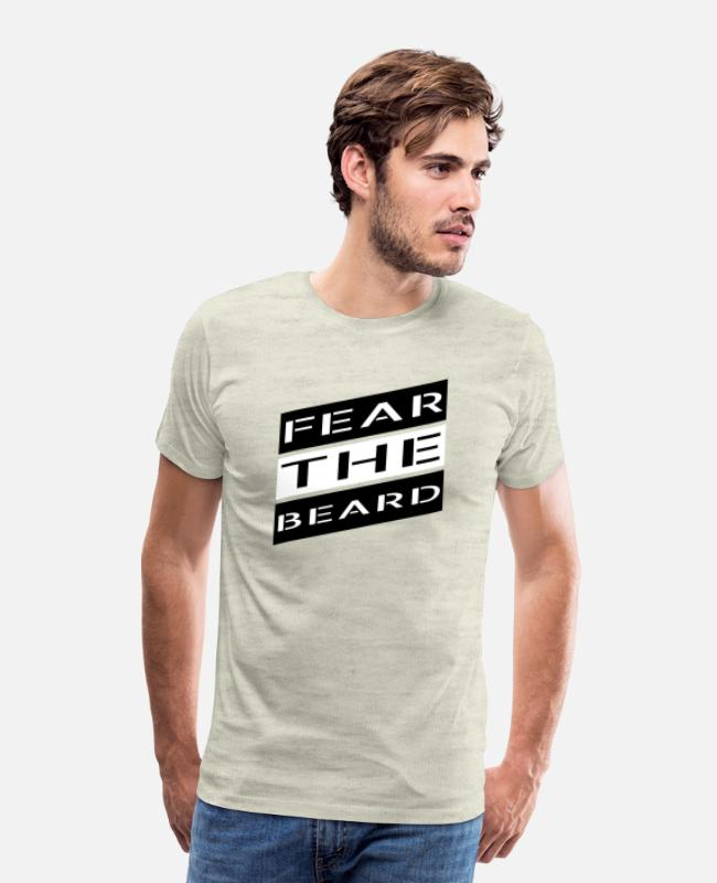 Beard T-Shirts - beard - Fear the beard - Men's Premium T-Shirt heather oatmeal