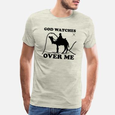 Godly GOD WATCHES OVER ME - Men's Premium T-Shirt