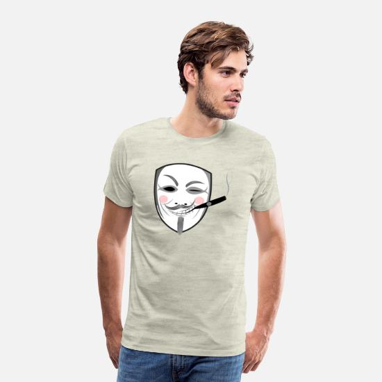 Anonymous T-Shirts - Rich anonymous - Men's Premium T-Shirt heather oatmeal