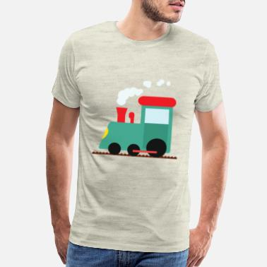 Steam Locomotive Steam locomotive on rail for children boys Kids - Men's Premium T-Shirt