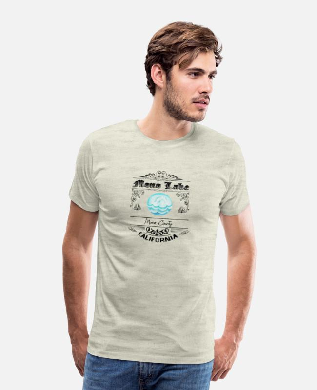 Travel T-Shirts - Mono Lake California - Men's Premium T-Shirt heather oatmeal