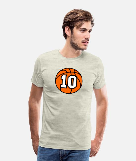 Ball T-Shirts - 10 Basketball Raster 3_color TAS - Men's Premium T-Shirt heather oatmeal