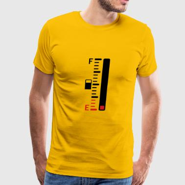 tank empty indicator bar tacho tachometer refuel s - Men's Premium T-Shirt
