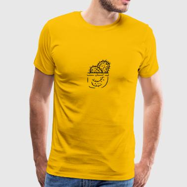 pocket breast pocket shirt funny kakten cactus flo - Men's Premium T-Shirt