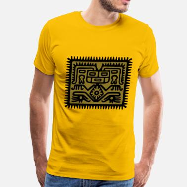Aztec Symbol aztec hocker - Men's Premium T-Shirt