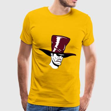 Horror face hat sunglasses - Men's Premium T-Shirt