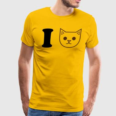 i heart love heart cats - Men's Premium T-Shirt