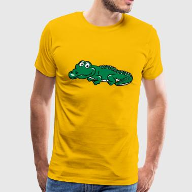 crocodile funny - Men's Premium T-Shirt